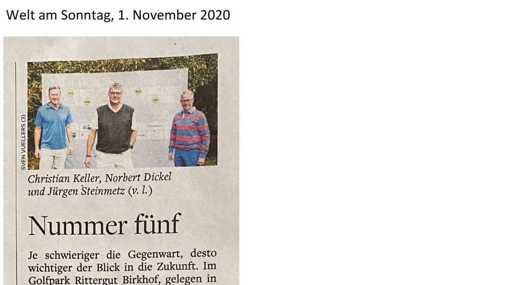 Welt am Sonntag, 1.11.2020