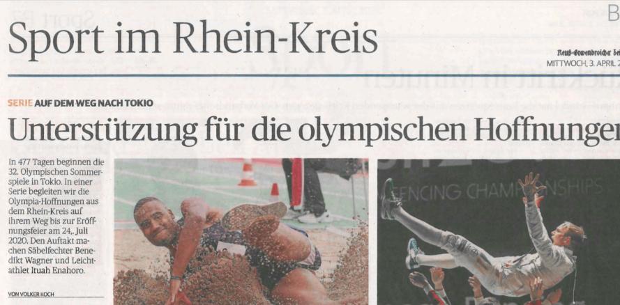 unterstuetzung fuer die olympischen hoffnungen
